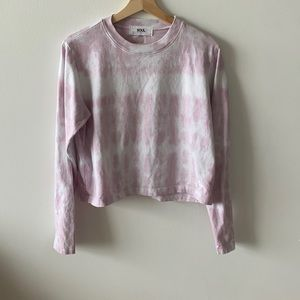 Soulcycle cropped tie dye pink shirt
